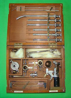 Antique Medical Surgical Urethroscope In Box About 1880  Marked Allen & Hanburys