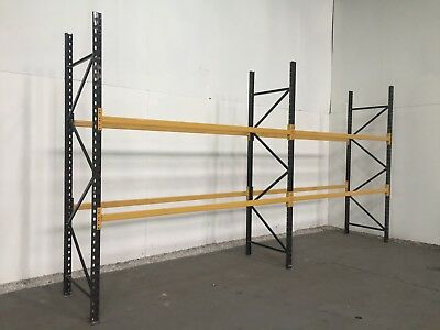 Used pallet racking, ALL BRANDS, 2 joined bays ... H-2.5m  x  D-0.9m  x  L-2.77m
