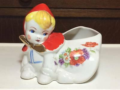 Vintage Hull Little Red Riding Hood planter