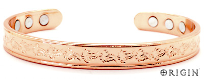 Copper Bracelet Arthritis  Bio Pain Relief Pattern Magnetic Bangle Unisex Tcb001