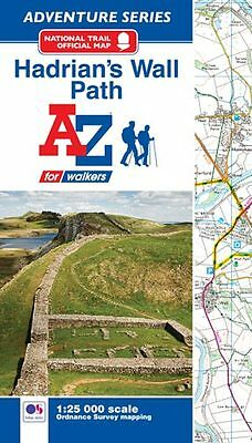 A-Z Hadrian's Wall Path Adventure Atlas (Paperback, OS 25000 Mapping)