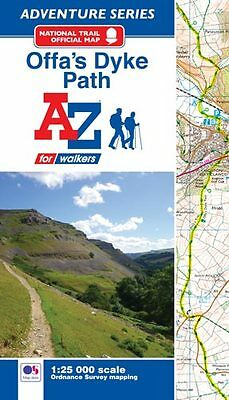 Offa's Dyke Path Adventure Atlas by A-Z Maps (Paperback, OS 25000 mapping)