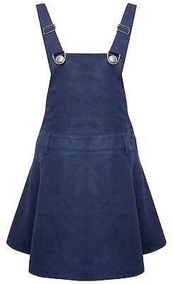 BENETTON Girls Navy Dungaree Pinafore Dress size 8-9 years - Brand New