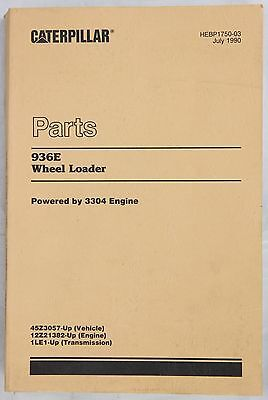 CATERPILLAR Parts Book 936E Wheel Loader Originale 1990 -  357 pp