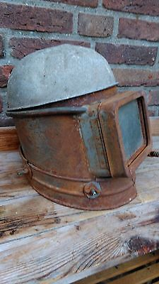 Great,antique industrial BLASTING HELMET mask,with oxygen supply,Rare,