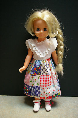 """Vintage 1970 Ideal 'velvet' 16"""" Crissy Family Doll With Accessories"""