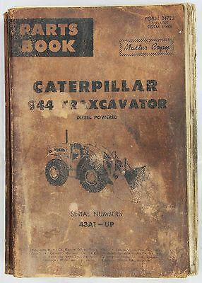 CATERPILLAR Parts Book 944 Traxcavator Master Copy Originale 1962 - 147 pp
