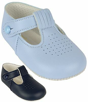 BabyPrem Baby Shoes Classic T-Bar Boys Shoes BayPod Pram Shoes 0-18m Christening
