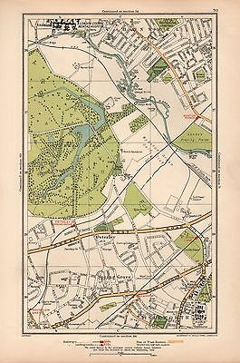 1933 London Map-Hanwell,osterley,spring Grove,isleworth,boston Manor