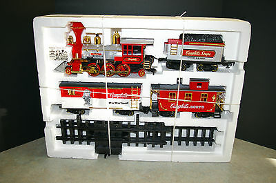 Rare 1986 New Bright 'campbell's Soup' Train Set #0815C Tested And Works