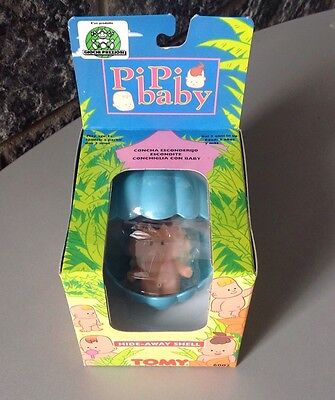 Vintage 90S# Tomy Tinkle Tots Pipi Baby Shell BLUE # Nib