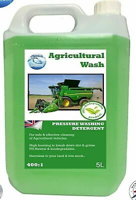 AGRICULTURE WASH 400:1 TRACTOR Pressure Washing Detergent 5 Litres