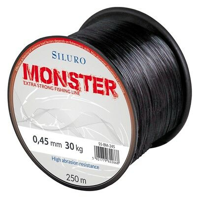 (0,036€/m) 250m SILURO MONSTER WALLERSCHNUR, MONOFIL ANGELSCHNUR, FISHING LINE