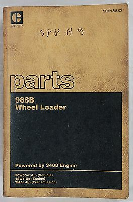 CATERPILLAR Parts Catalog 988B Wheel Loader Originale 1987