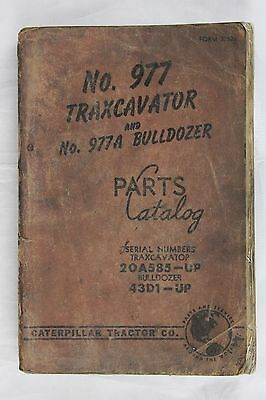 CATERPILLAR Parts Catalog 977 Traxcavator and Bulldozer - Originale 1957