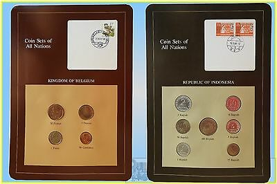 """Coins of All Nations"" Stamp and Coin Set on Card (4 Sets)"