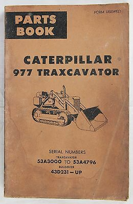 CATERPILLAR Parts Book 977 Traxcavator Originale 1966 - 224 pp in inglese