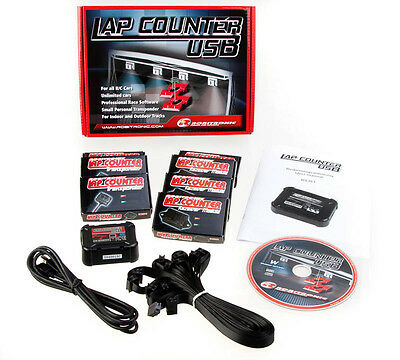 LapCounter Rundenzählung USB Version Robitronic incl. 3 Transponder RS161 LAPCOU