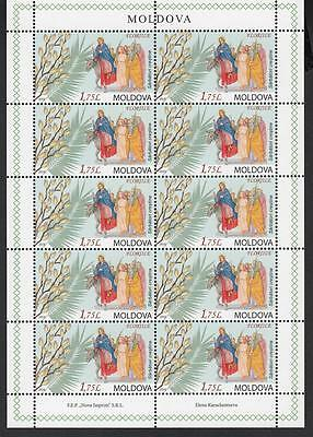 Moldova Moldawien 2016  MNH** Mi.957 Sheet Palm Sunday