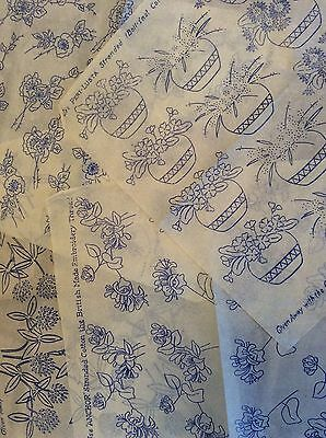 Vintage 1930s 40s Needlework Embroidery Transfers x4 Floral Flowers Etc   (5)