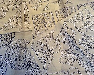 Vintage 1930s 40s Needlework Embroidery Transfers x4 Floral Flowers Etc   (7)