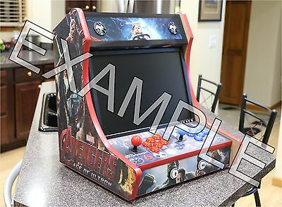 "Bartop Arcade Cabinet - 3/4"" MDF - Do it Yourself Kit -T-MOLD CUT OUTS"