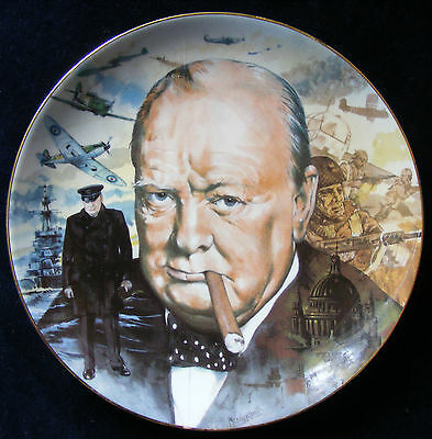 Hamilton Collection Their Finest Hour 21.5cm Churchill Plate, Malcolm Greensmith