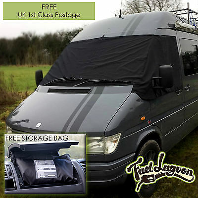 VW Screen Cover Volkswagen LT 35 Front Window Frost Protection Black Out LT35 2D