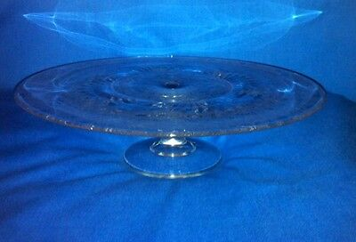 """PADEN CITY Spring Orchard Footed Pedestal CAKE PLATE STAND 12"""""""
