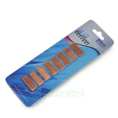 10 Pack Copper Adhesive Back Heatsink For PC Chipset VGA DDR RAM Memory Cooling