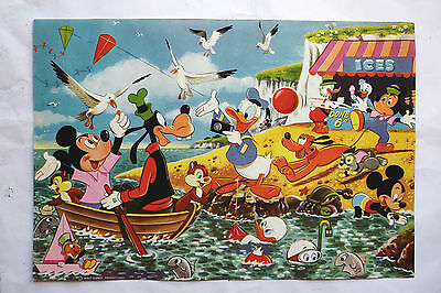 Vintage Walt Disney Productions Poster Mickey Mouse & Friends 1950s 60s Genuine