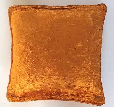 Burnt Metallic Orange Crushed Velvet Home Decor Lounge Deluxe Cushion Cover