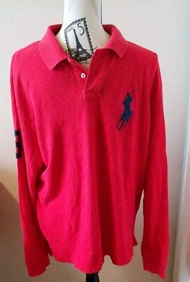 Vintage Mens Golf Polo Ralph Lauren Rugby custom fit Long sleeve casual shirt XL