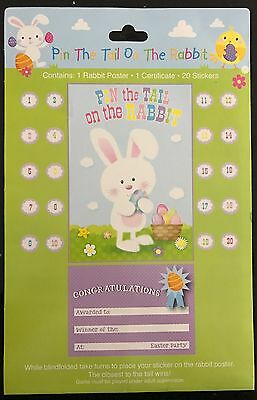 Pin / Stick the Tail on The Rabbit - * EASTER * Party Game & Certificate