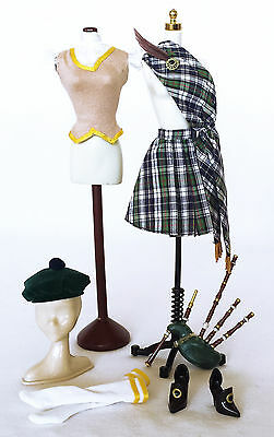 """Barbie tenue """"Scotland"""" Dolls of the World 2009 Outfit"""