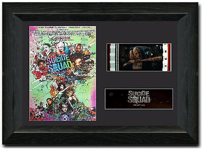 Suicide Squad 35 mm Framed Film Cell Display Signed Stunning Collectible Harley
