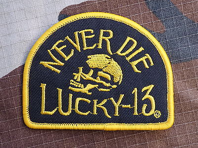 ECUSSON PATCH THERMOCOLLANT toppa aufnaher LUCKY 13 THIRTEEN never die hot rod