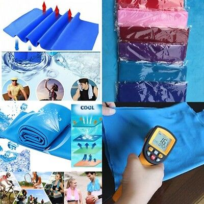 Gym Jogging Running Sports Ice Towel Instant Cooling Enduring Cold Chilly Pad