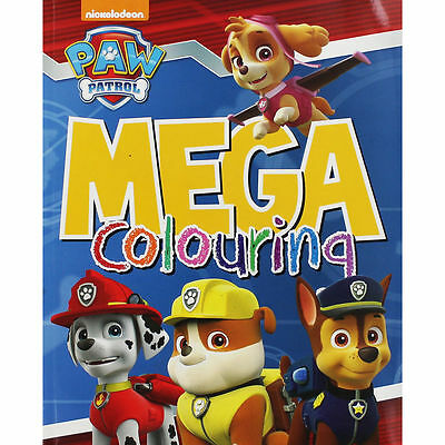 Paw Patrol: Mega Colouring Book with 12 Colouring Pencils included