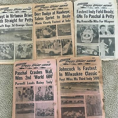 VINTAGE RACE CAR PUBLICATION NATIONAL SPEED AND SPORT NEWS 5 Issues From 1967