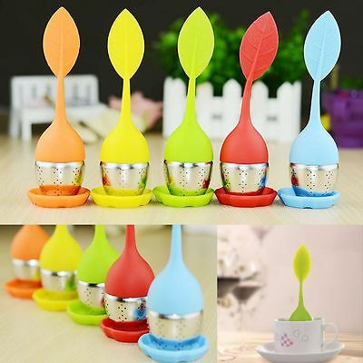 Herbal Infuser Silicone Diffuser Stainless Steel Tea Leaf Strainer