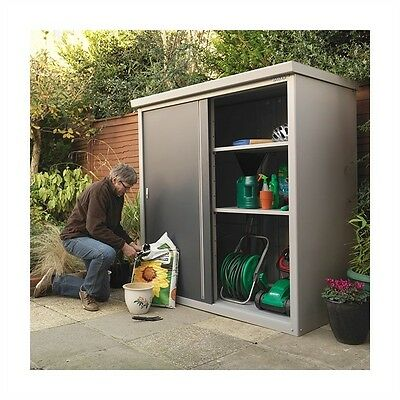 Guardian D63 Shed Modern Garden Storage Cabinet With Shelving Options