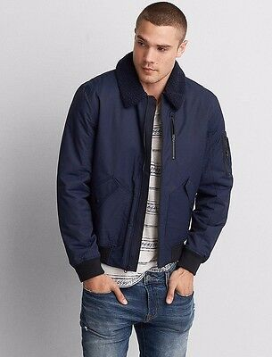 American Eagle Outfitters  Men's AEO Aviator Bomber Jacket  Coat S,M,L,XL