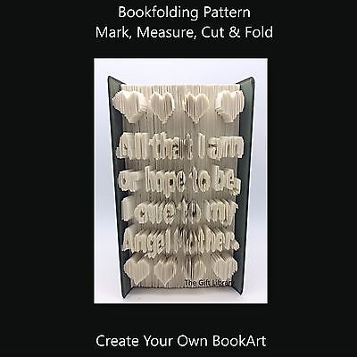 Book Folding Pattern  - Angel Mother - Mothers Day