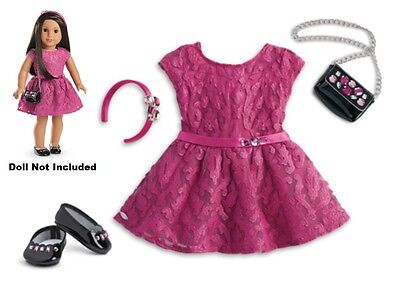 New NIB American Girl Truly Me Merry Magenta Outfit SET Holiday Christmas