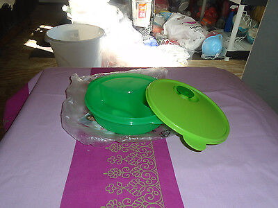 Tupperware Brand New A Shade of Green Divided Crystalwave  Plate BG2