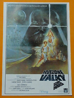 STAR WARS Amazing Original Czech Poster HARRISON FORD GEORGE LUCAS