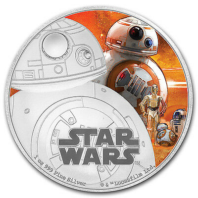 2016 Niue 1 oz Silver $2 Star Wars BB-8 (w/Box & COA) - SKU #103037