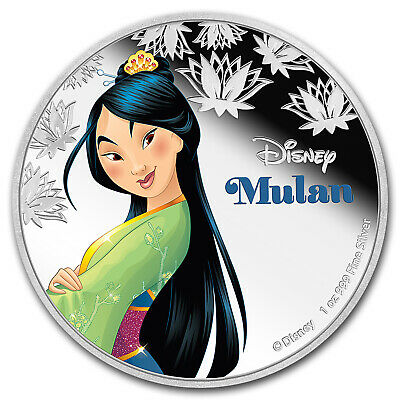 2016 Niue 1 oz Silver $2 Disney Princess Mulan - SKU #97734