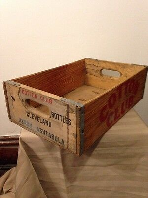 Vintage Cotton Club Soda Box Crate Wooden